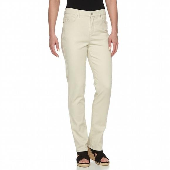 28fbf492f52 Gloria Vanderbilt Amanda Jeans Beige Size 6P New